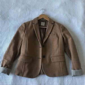 Gap Wool Academy Blazer Tan Size 0